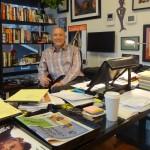At his office, Ed Hart