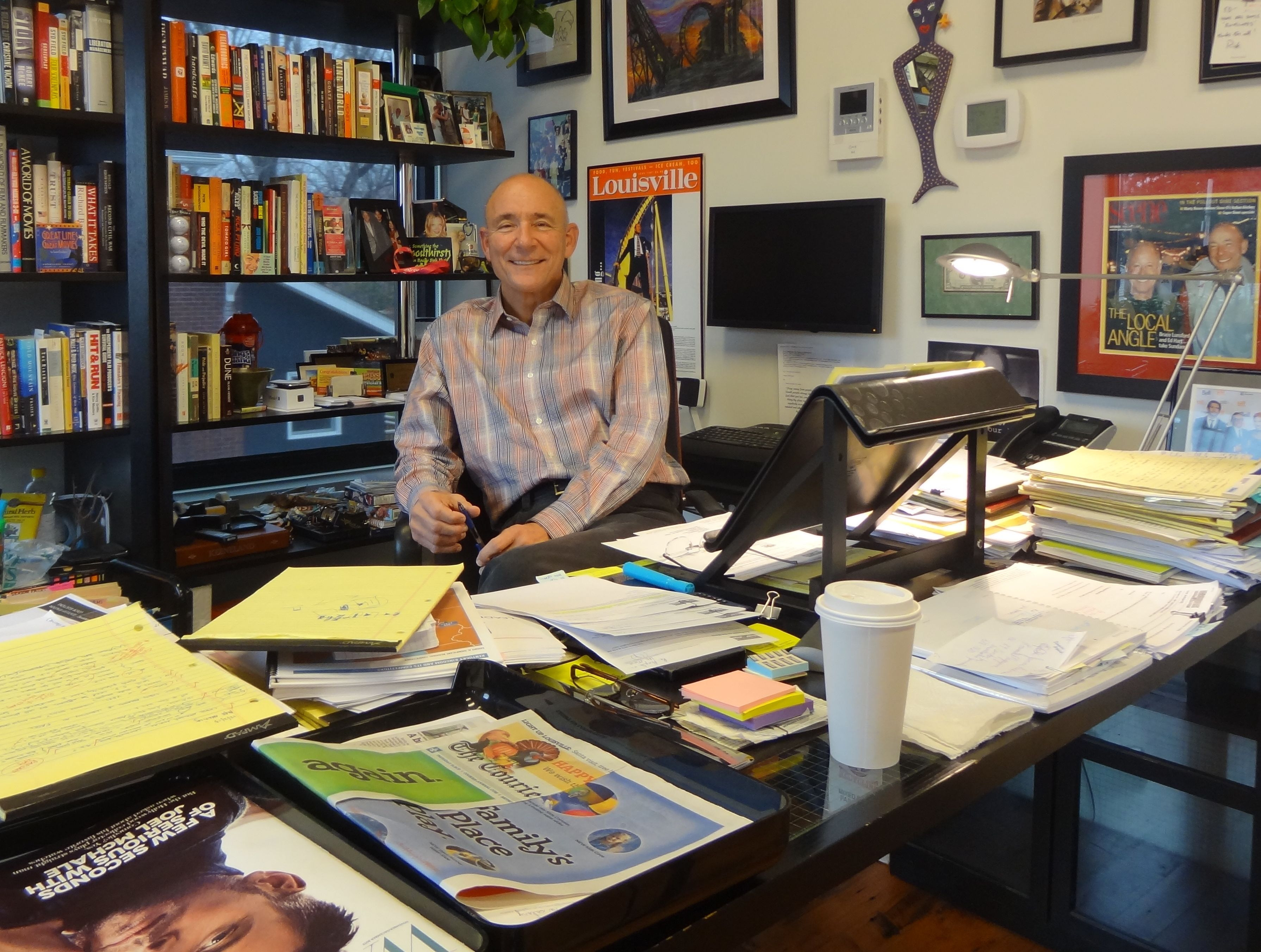 At his office, Ed Hart