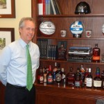 The Mayor shows off his bourbon collection