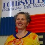Mollie Yunker in studio