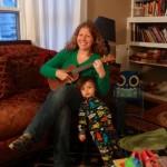Brigid, and Graham, at home