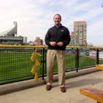 Greg Galiette out standing in Slugger Field