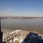 The view from Schmitt's 23rd floor office
