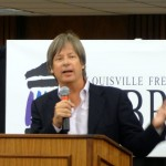 Dave Barry spoke at the library