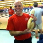 Mark Hebert shows off his 300 at Ten Pin Lanes