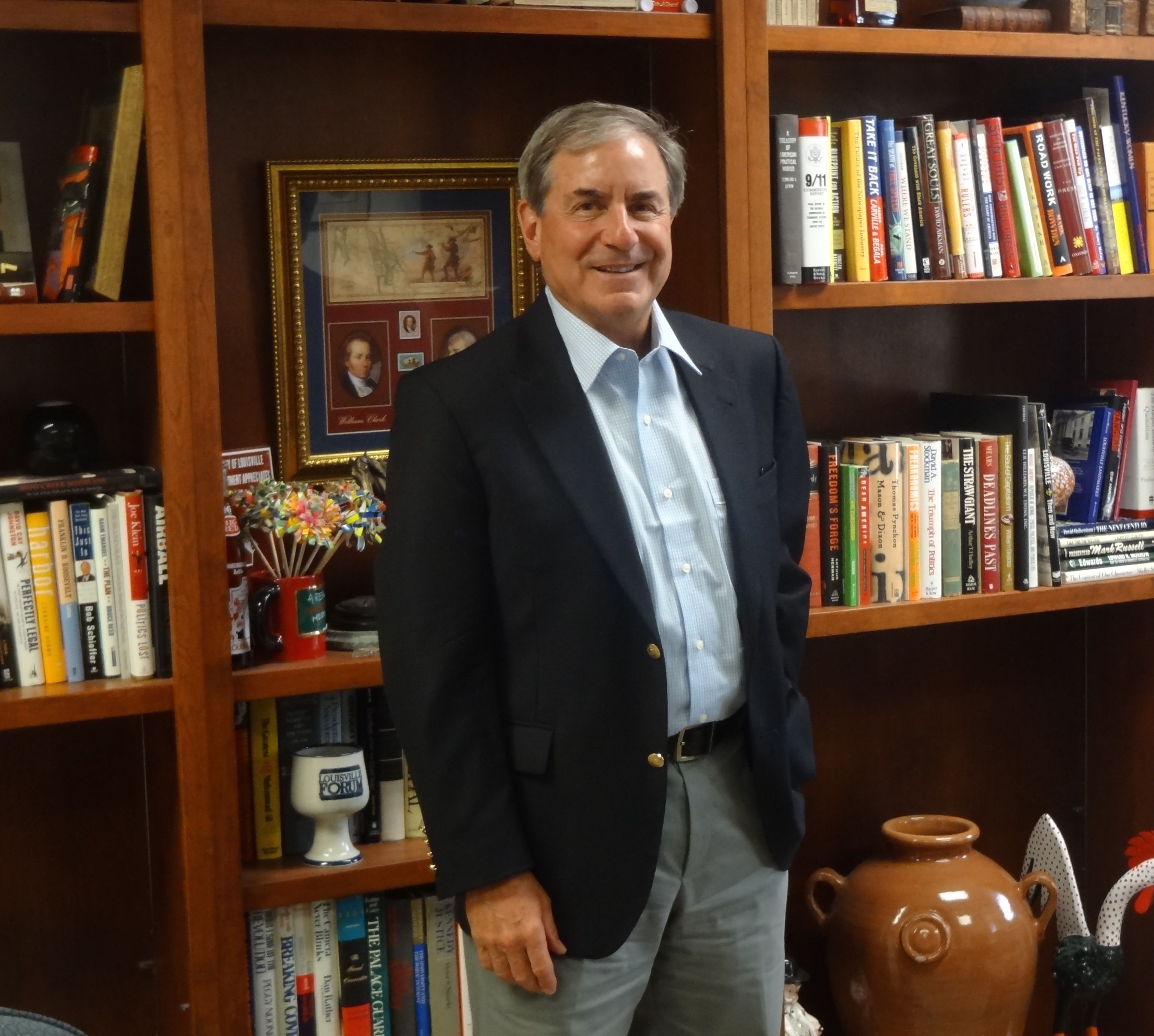 At work, U.S. Rep. John Yarmuth