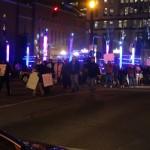Protestors on Fourth Street