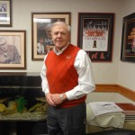 Denny Crum in his office