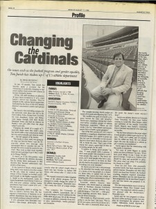 The 1998 Business First profile of Tom Jurich